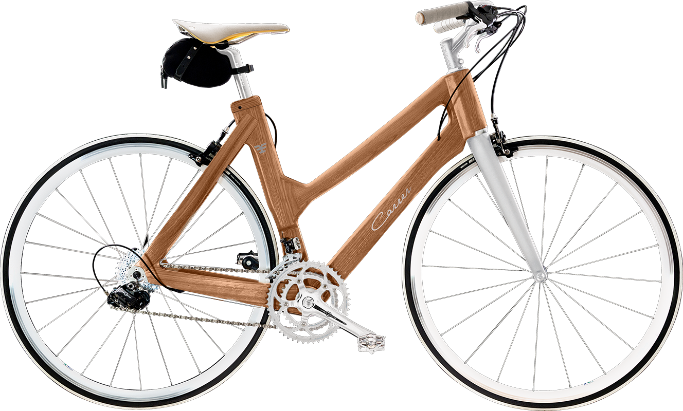 City bike da donna di design fatta a mano