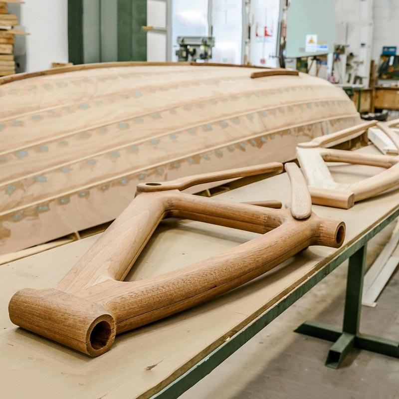 Barche in legno e telai in legno