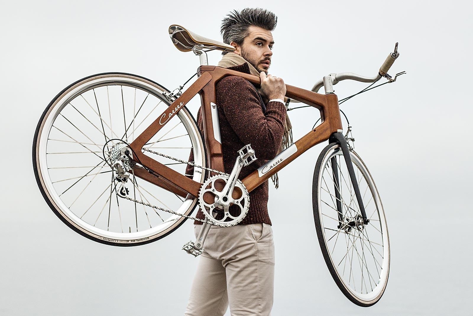 Telaio in legno e leggerezza per la bicicletta CarrerBikes