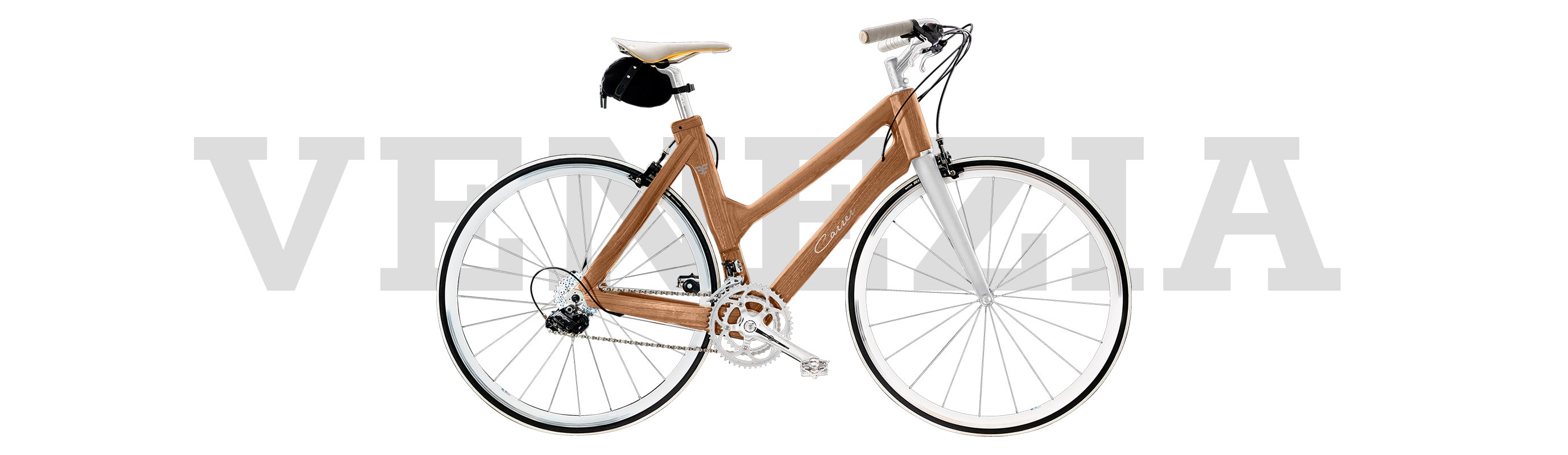 Telaio in legno tailor made per city bike Carrer da donna