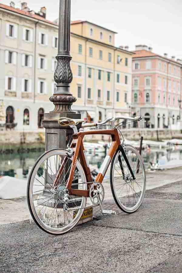 CarrerBikes bicicletta di design con telaio in legno