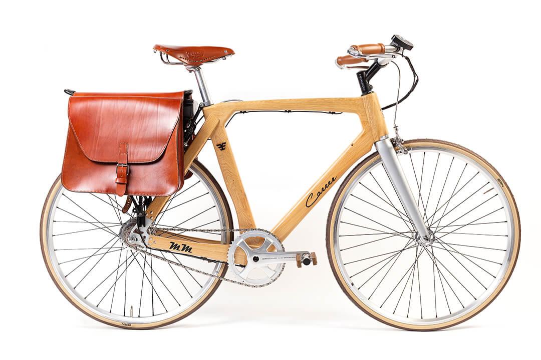 bicicletta ecologica e artigianale elettrica
