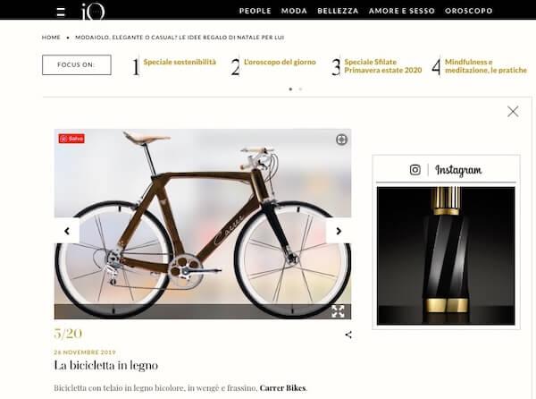 idea regalo di natale per lui la bicicletta in legno