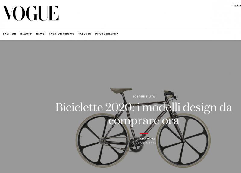 Carrer bicicletta di design Vogue Italia