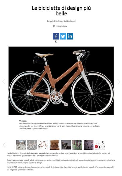 biciclette di design carrer